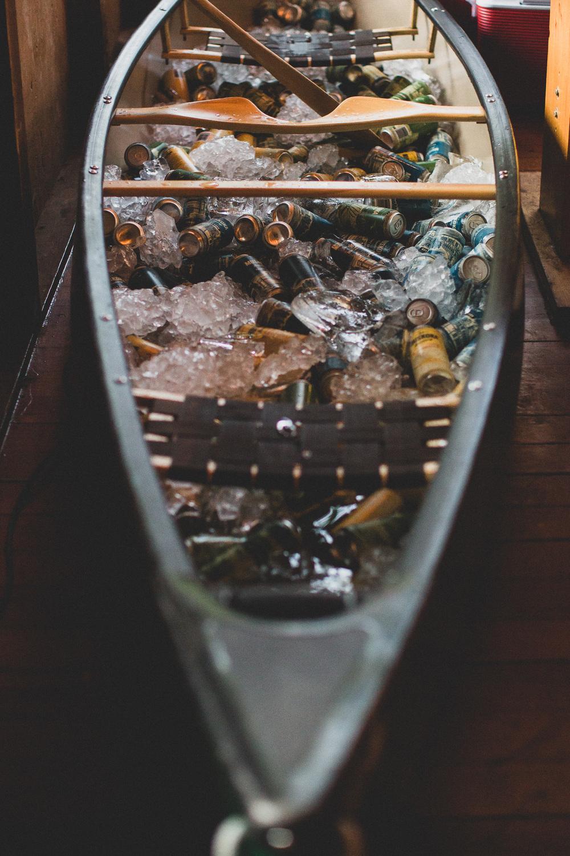 Beer Canoe, Wedding Drinks