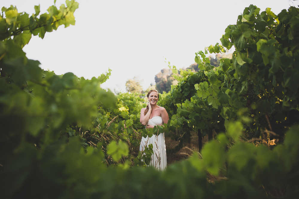 Vinyard wedding portrait in Portugal