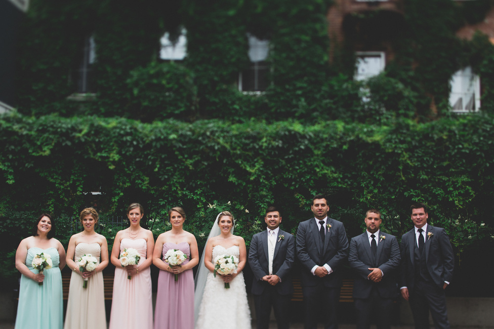 courtyard in ottawa wedding portrait