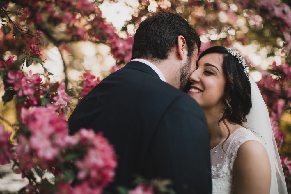 Ottawa spring wedding photographer, cherry blossoms