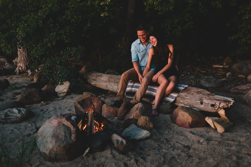 Bonfire engagement session, Ottawa photographer