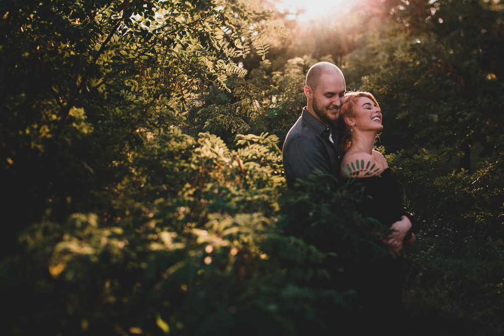 Natural, candid engagement session
