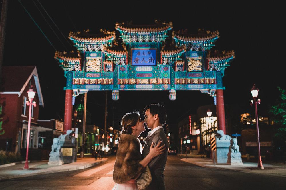 Ottawa Chinatown Wedding Portrait