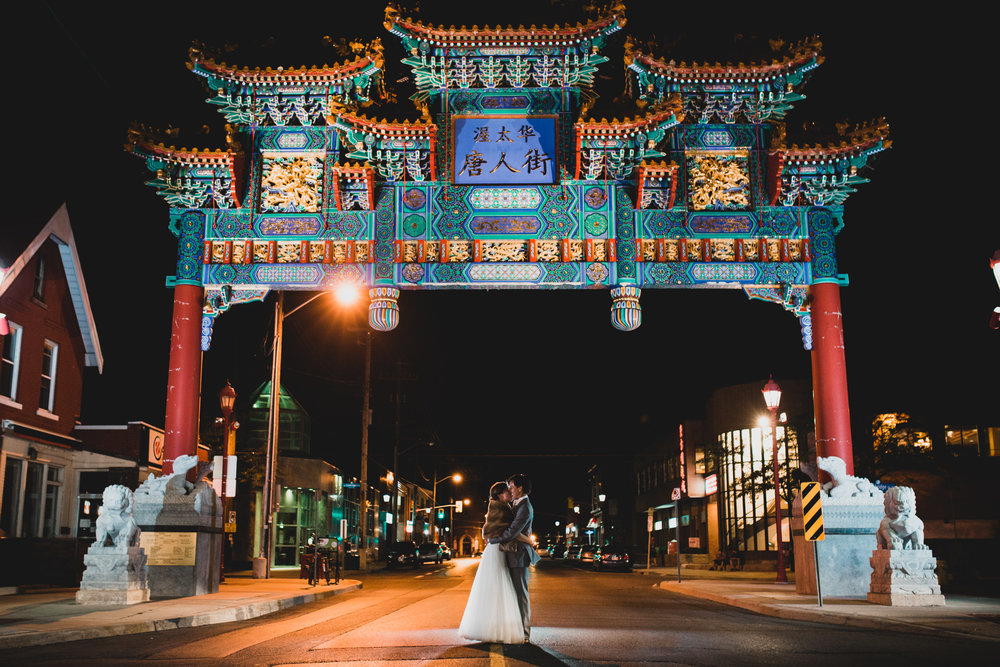 Ottawa Chinatown Arch Wedding, Somerset