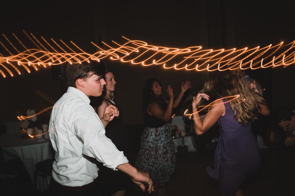 Alternative wedding photography, reception