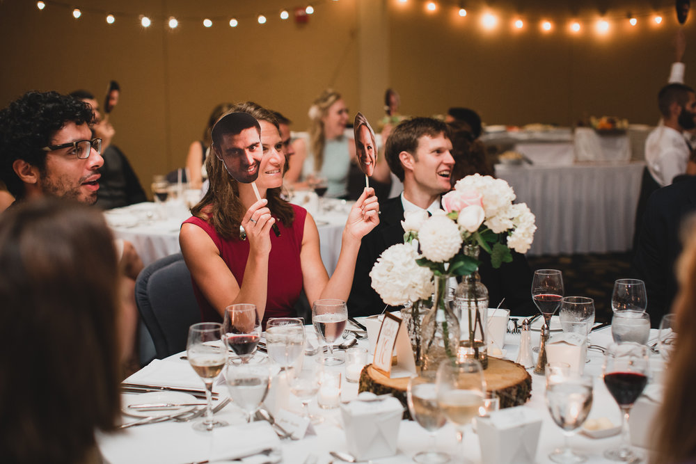 Wedding games, face cut-outs