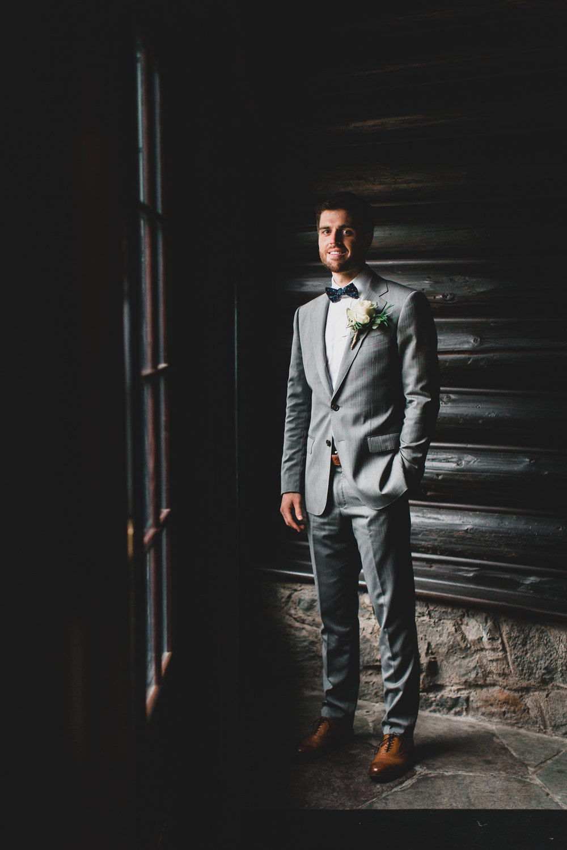 Rainy and moody wedding photography