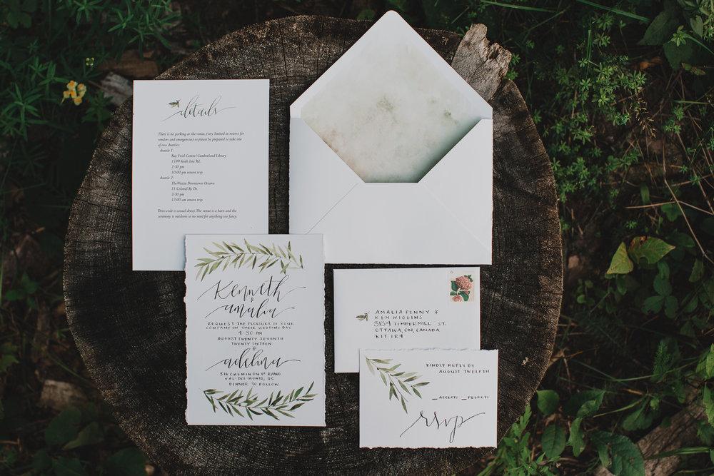 Stunning Handmade DIY wedding invitations