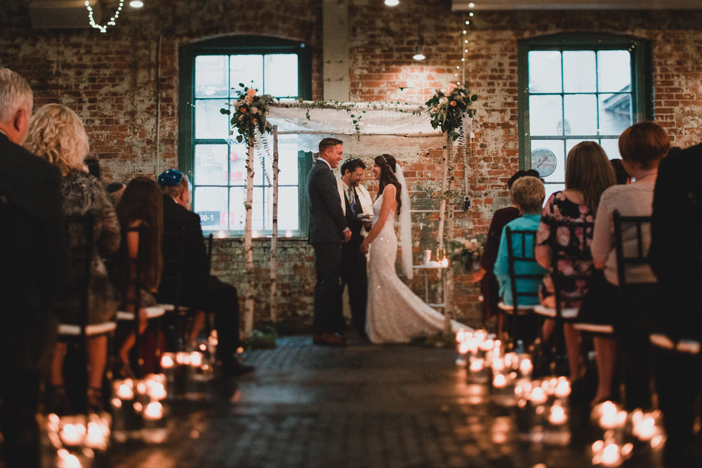 Industrial Ottawa wedding venue http://jonathankuhnphotography.com/blog/2016/12/2/industrial-boho-wedding-at-zibi