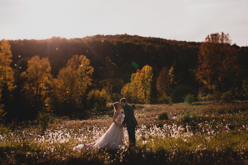 Gatineau park fall wedding