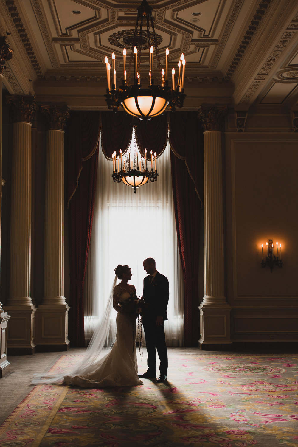 Chateau Laurier Ottawa Wedding portrait