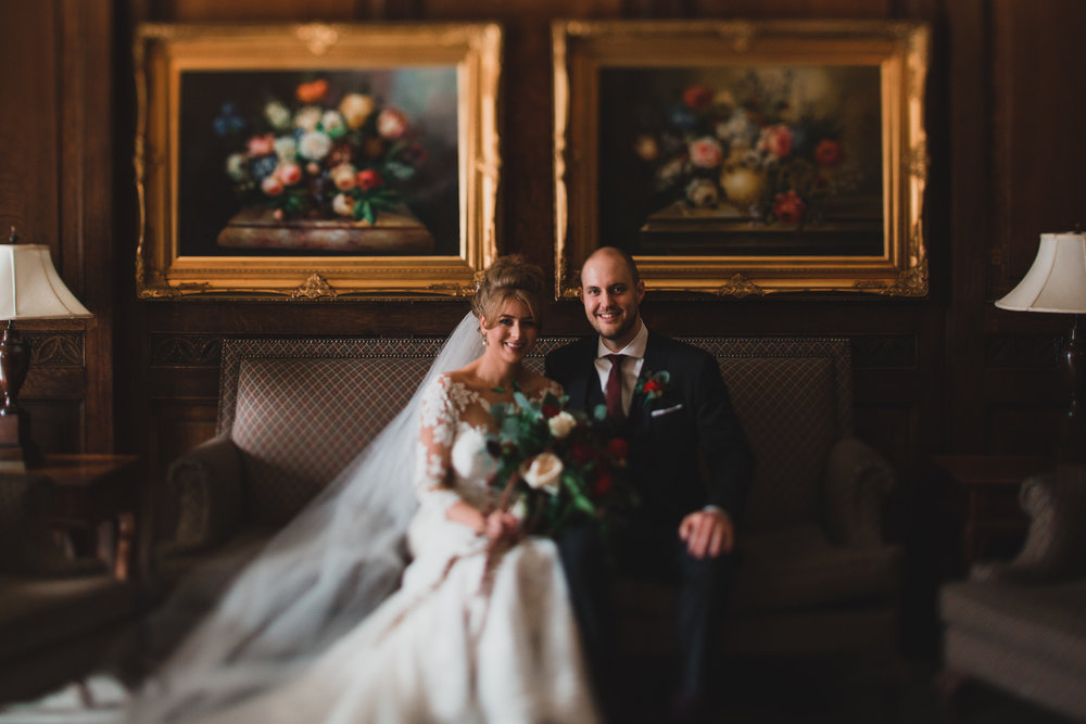 Chateau Laurier wedding portrait Jonathan Kuhn