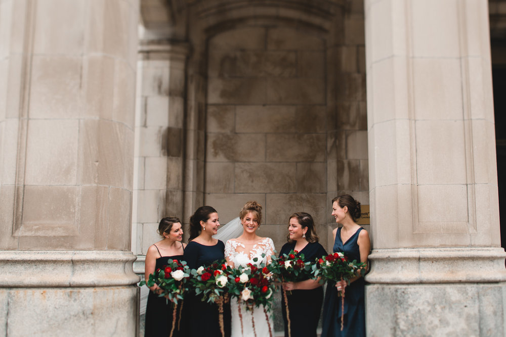 Navy Blue Bridesmaid Dresses, mismatching