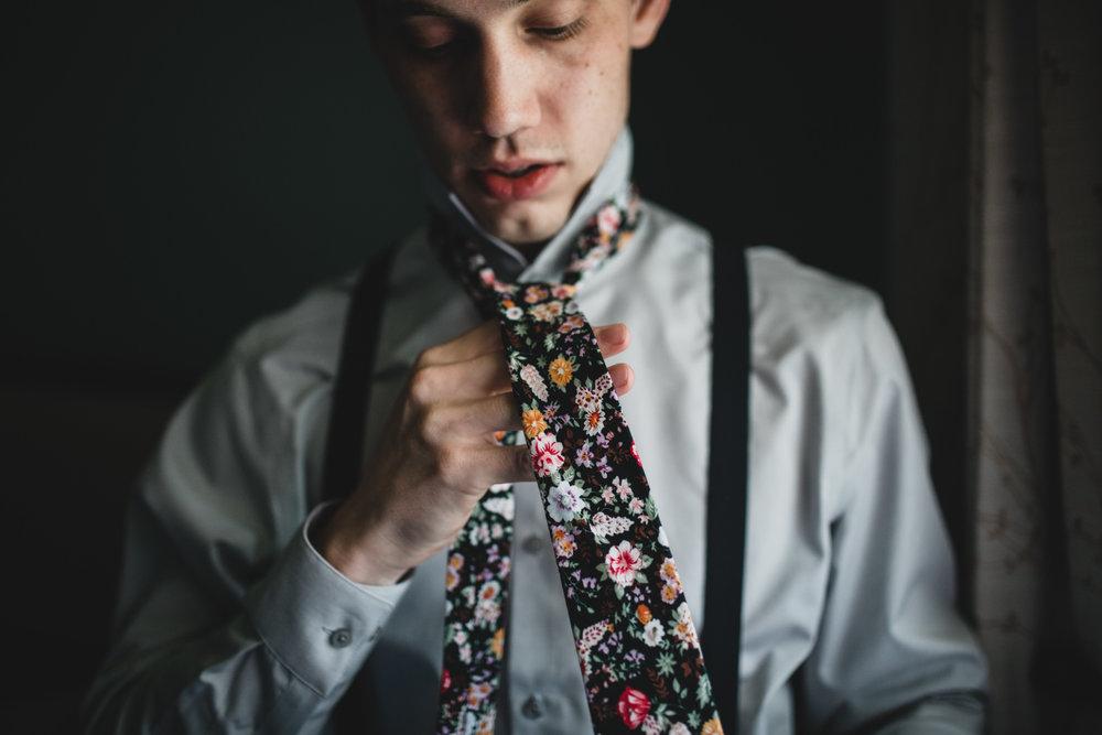 Groomsmen Floral Ties