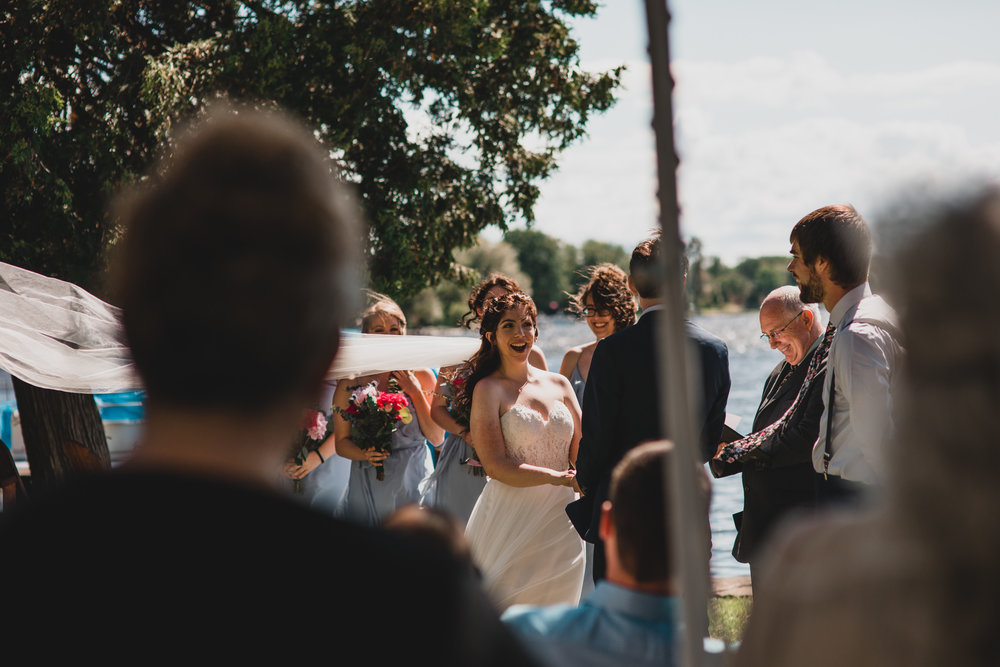 Windy Outdoor Wedding