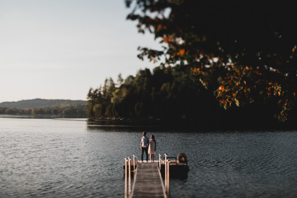 Gatineau Engagement Session, Lakeside Sunset
