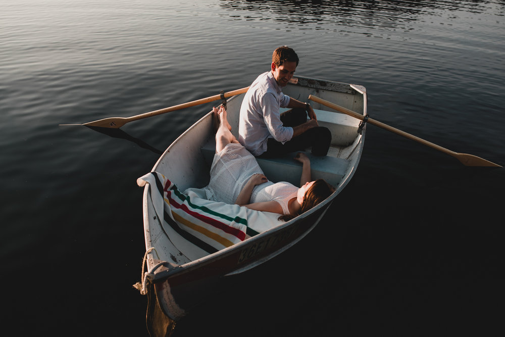 Canadian Rowboat Engagement Session