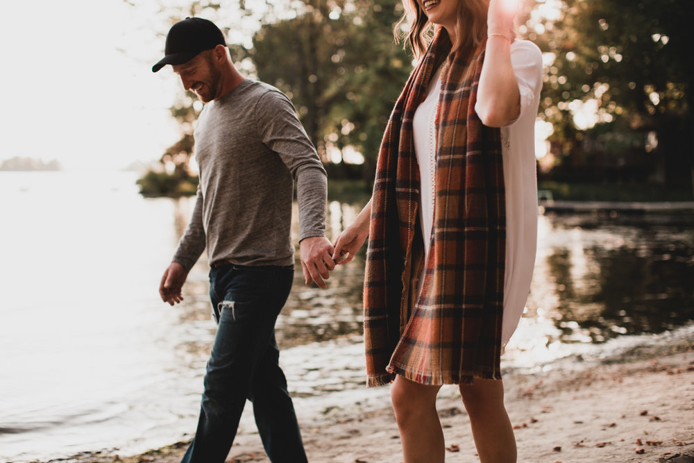 Lakeside Fall Engagement Session