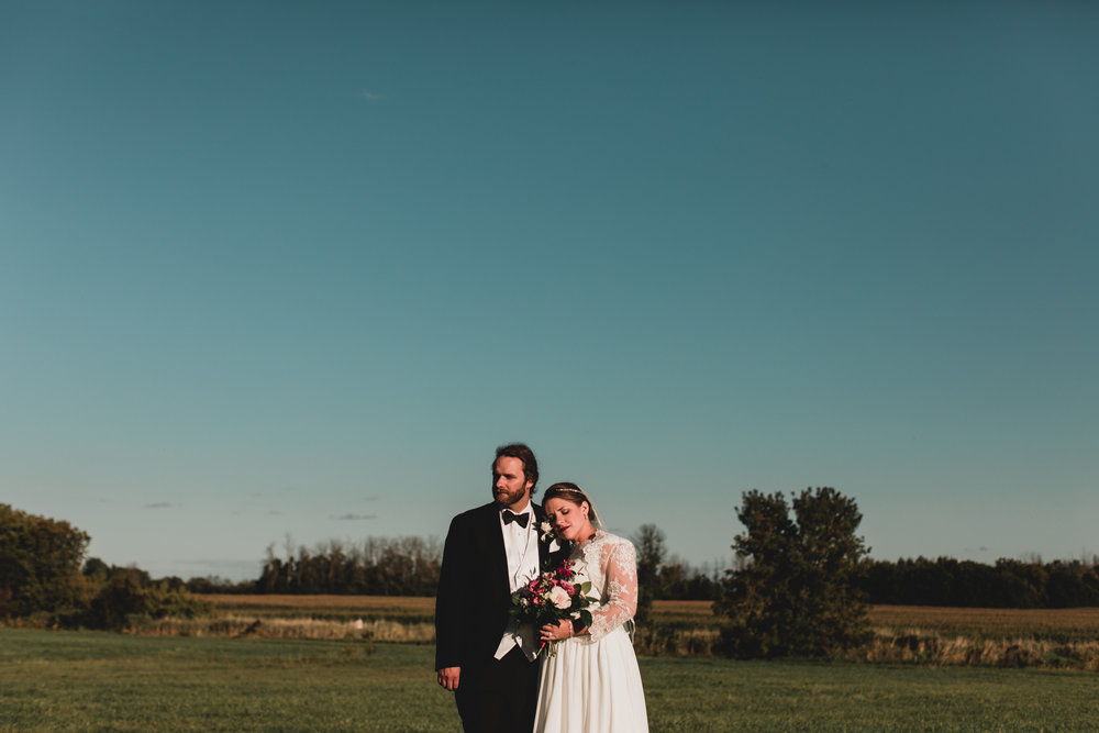 Rural countryside wedding