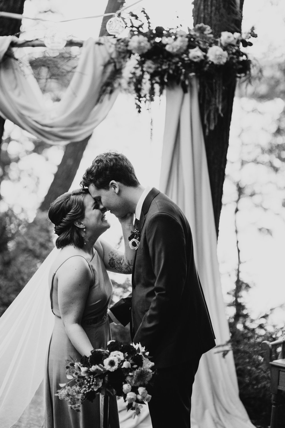 Moody, intimate wedding photos, Junebug
