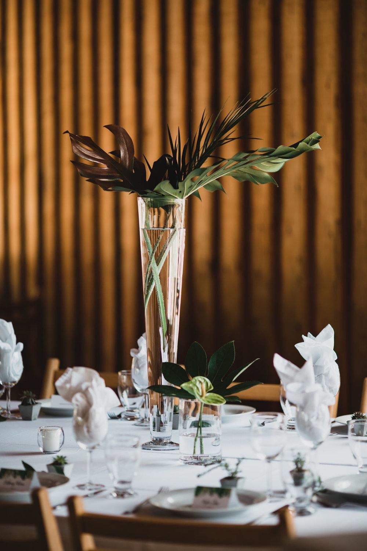 Tropical, Botanical theme wedding