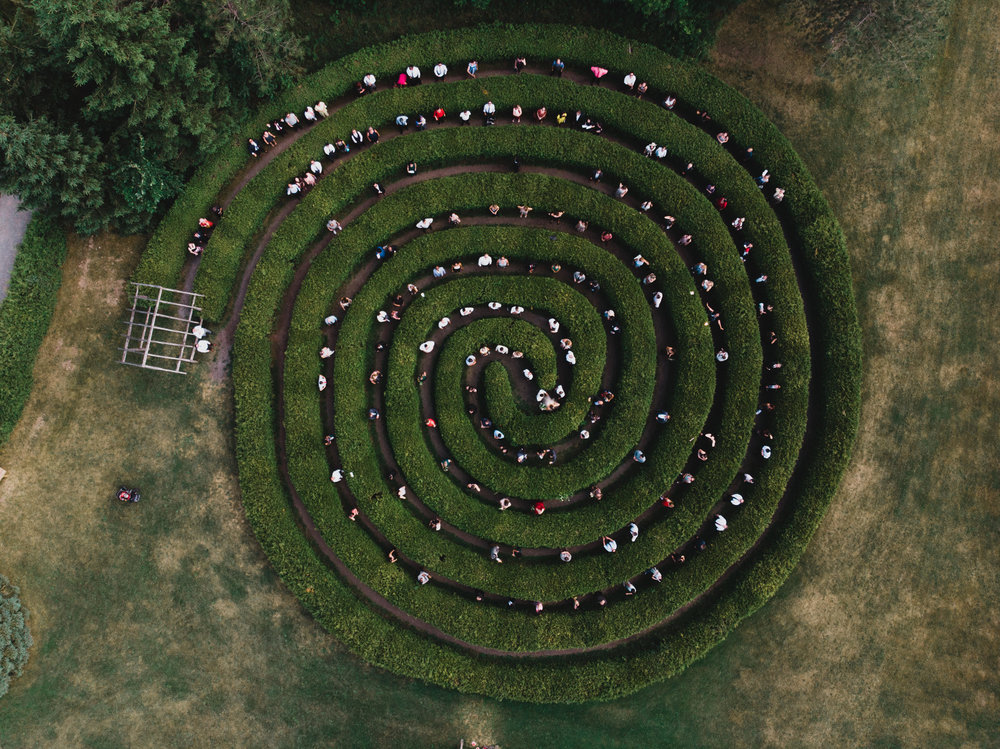 Saunders Farm, Drone over the Maze