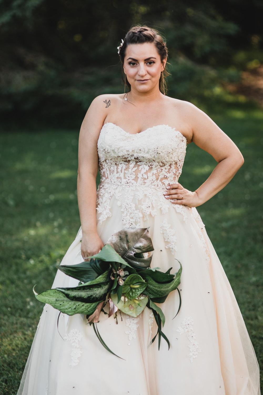Greenery, botanic only wedding bouquet