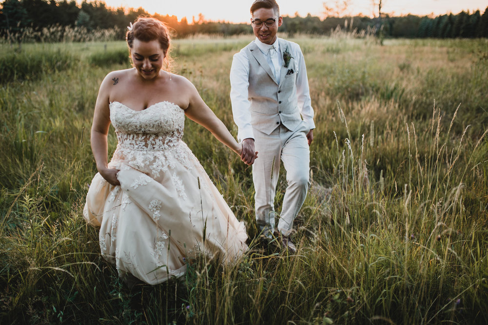 Whimsical, outdoorsy wedding
