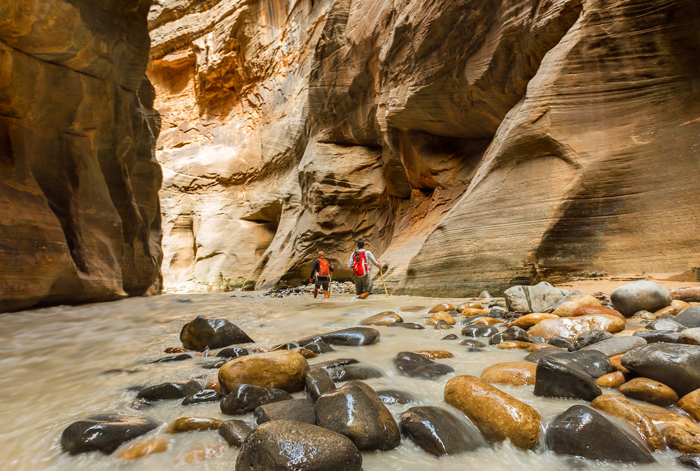 Hiking the Narrows, Zion National Park, Utah