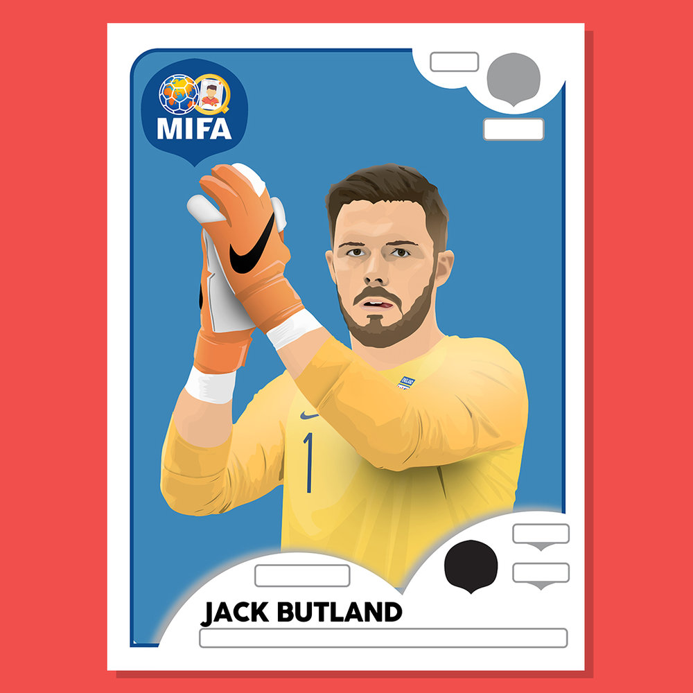 Jack Butland - England  - by Tom Butcher @tbdesign_