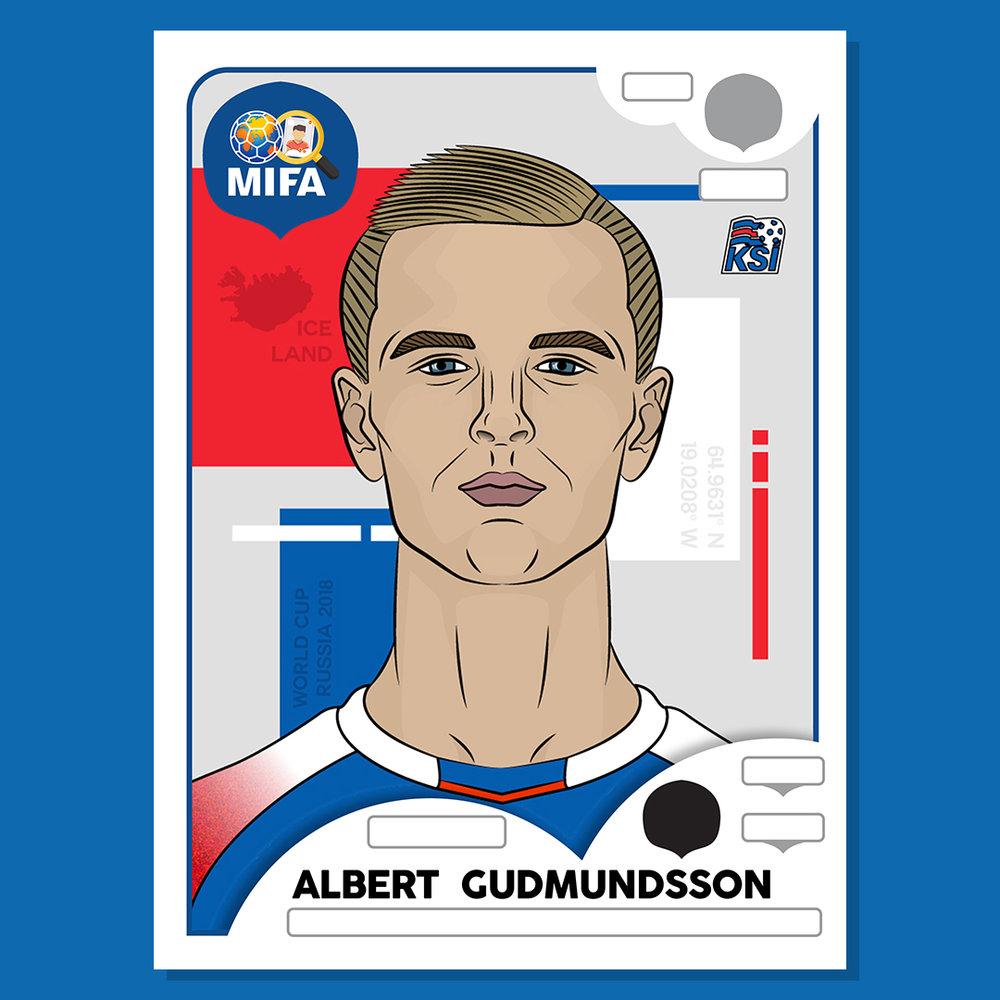 Albert Gudmundsson - Iceland - by Justin Soper @justinsoperdesigns