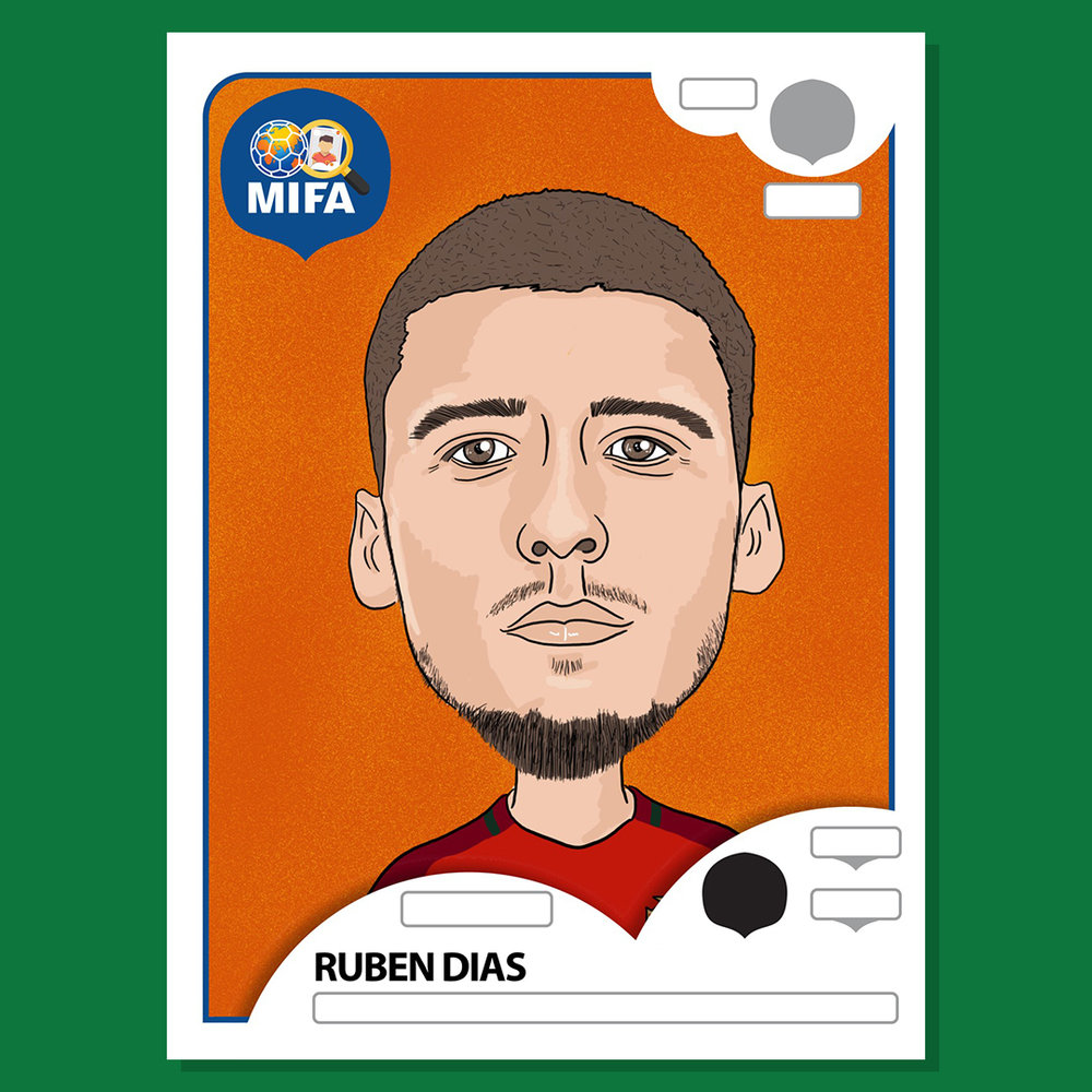 Ruben Dias - Portugal - by David Vandepeer @cartoonsbydave