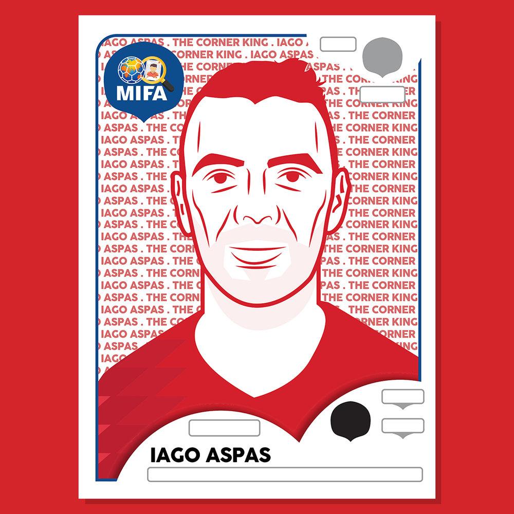 Iago Aspas - Spain - Robin Matthews @badlydrawniconsby