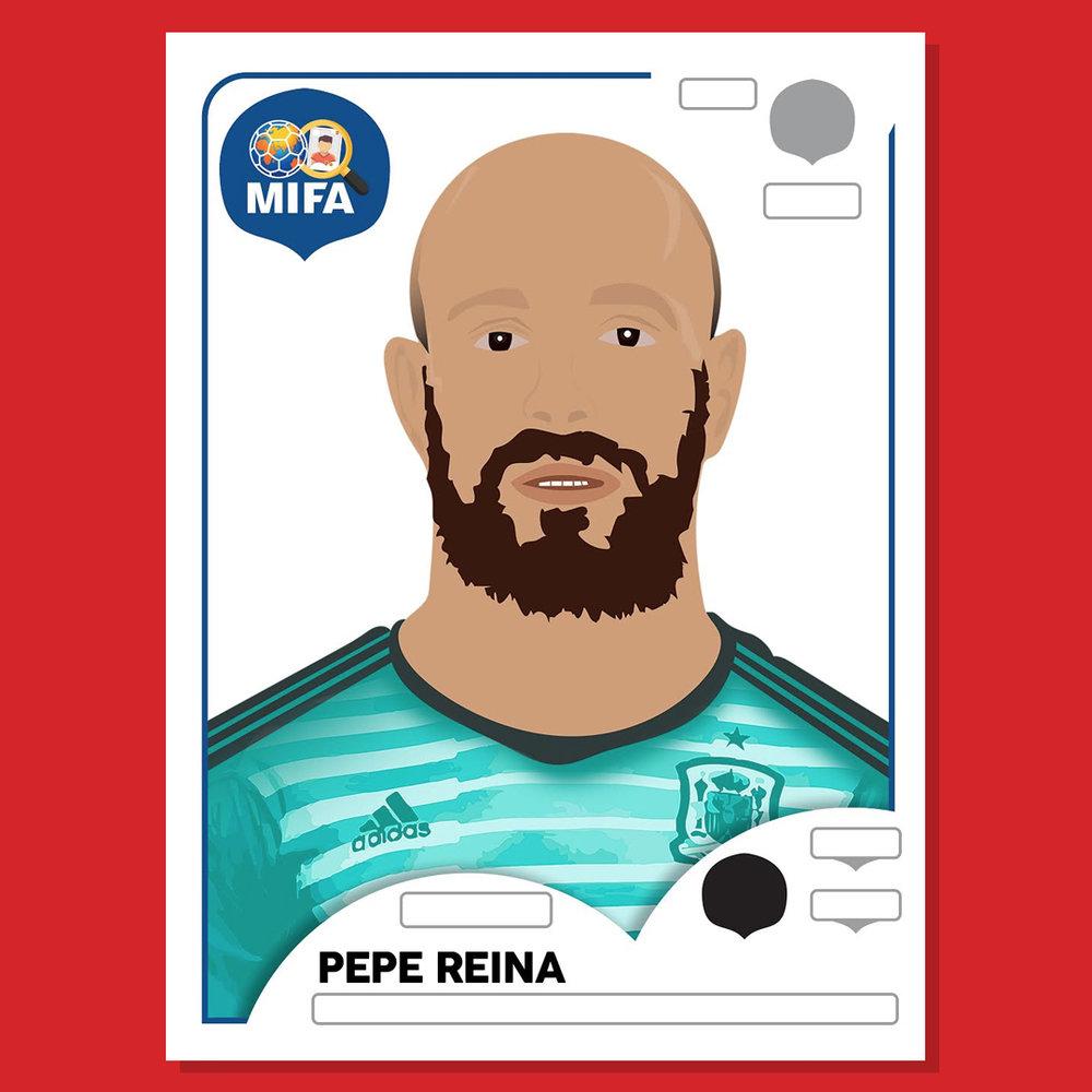 Pepe Reina - Spain - by Benedetta Tello @beeshiveuk