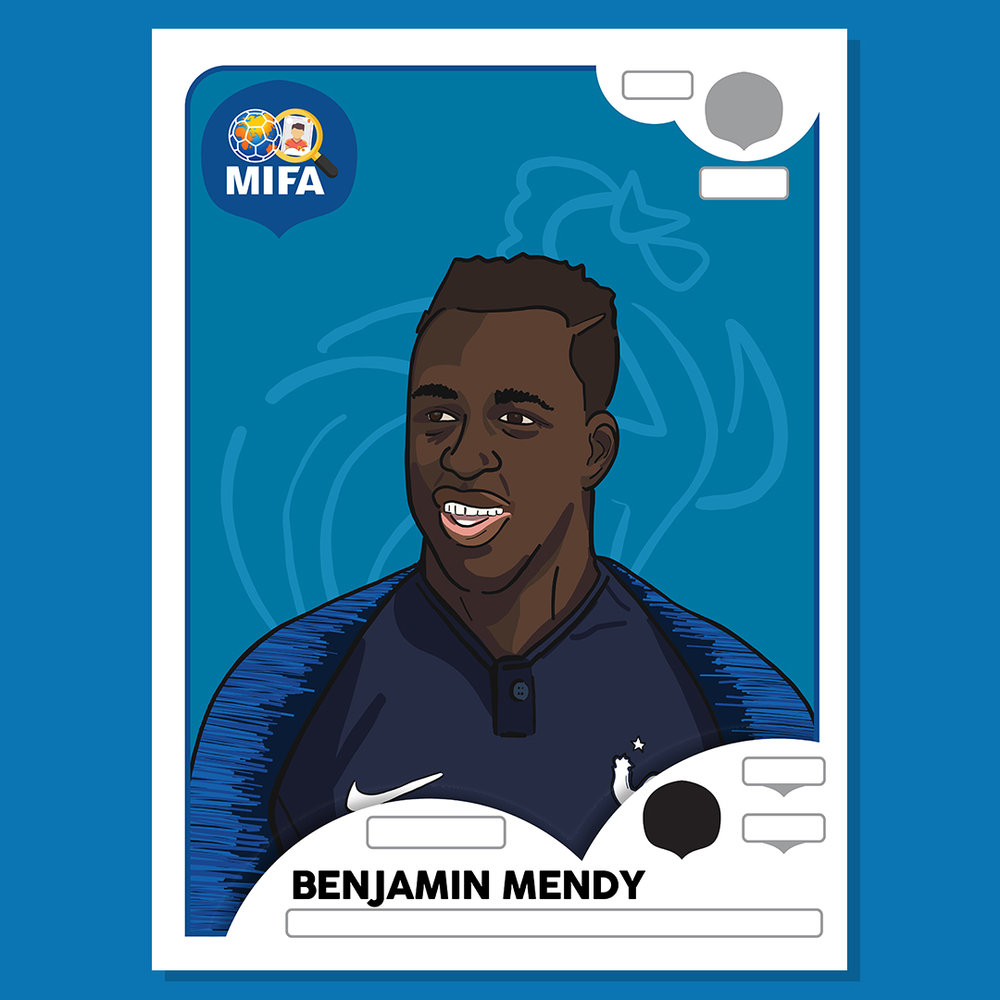 Benjamin Mendy - France - by Emma Foster @emmafosterdesign