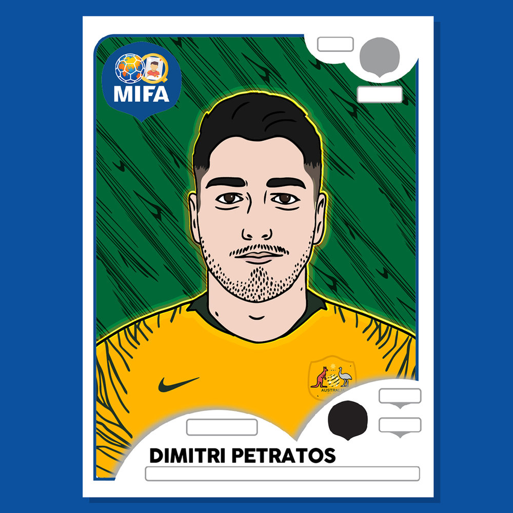 Dimitri Petratos - Australia - by Rob Cox @mygreatest11