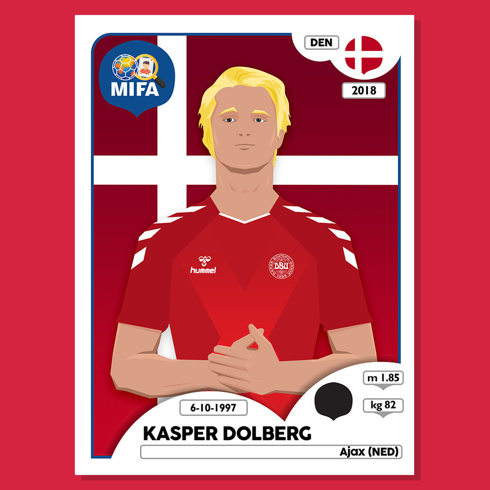 Kasper Dolberg - Denmark - by Vishnu Mallela @a.guy.called.vishnu