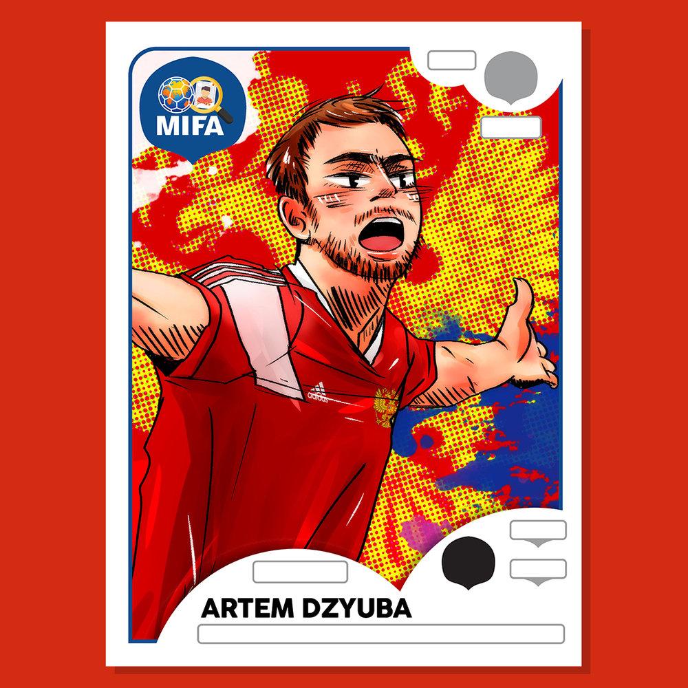Artem Dzyuba - Russia - by takaisayakabento @takaisayakabento