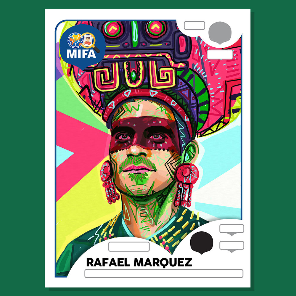 Rafael Marquez - Mexico - by Phil Galloway @philthyart