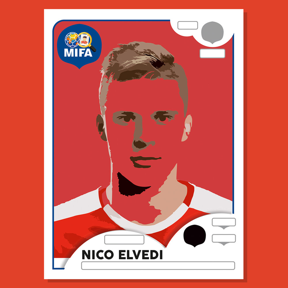 Nico Elvedi - Switzerland - by Ben Rooke @designs_hr