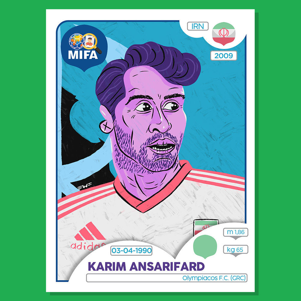 Karim Ansarifard - Iran - by East Worthings Finest @EWF81