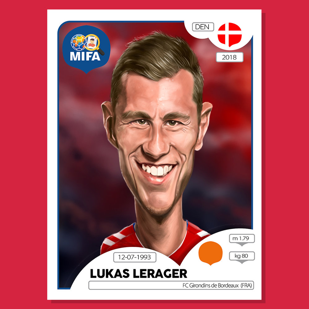 Lukas Lerager - Denmark - by David Wright @dw_caricatures