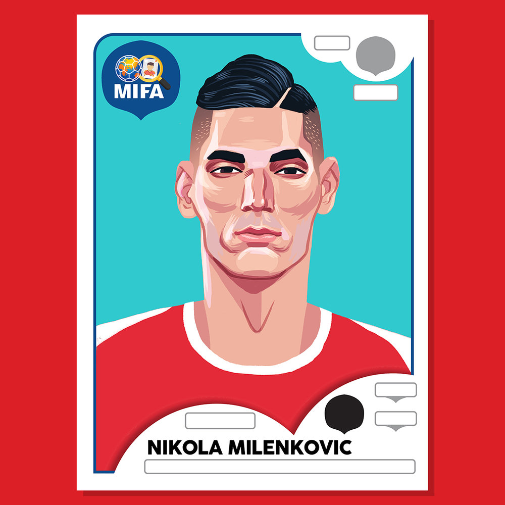Nikola Milenkovic - Serbia - by Dan Evans @Dan_Draws