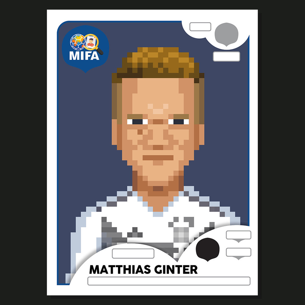 Matthias Ginter - Germany - by 8 Bit Football  @8bitfootball