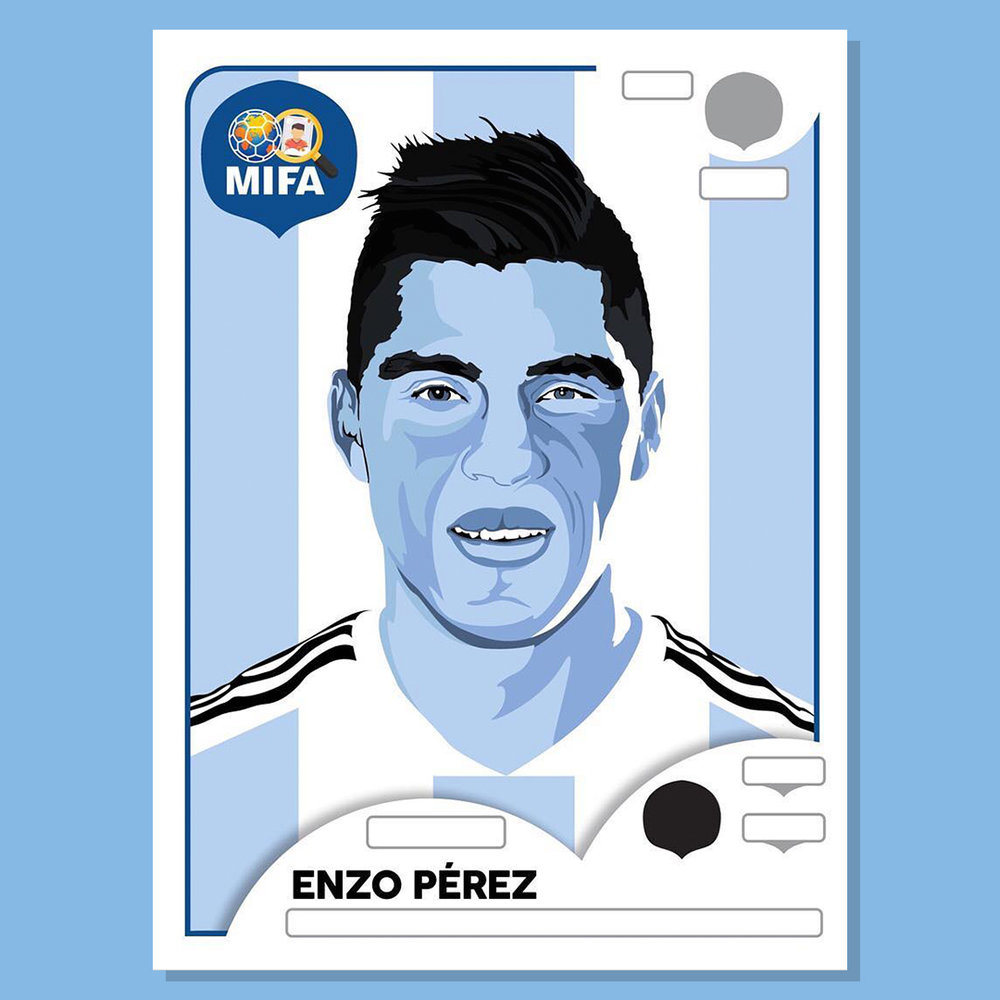 Enzo Perez - Argentina - by James O'Mara @EntireDesign_