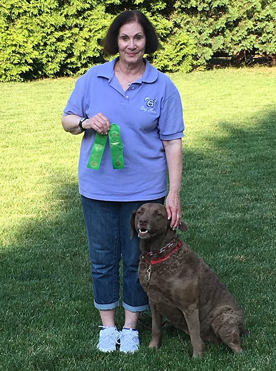 "Rio earned her fourth RAE leg at Princeton Dog Training Club's rally trial on July 16th. She had a 95 in excellent ""B"" and a 92 in advanced ""B""."