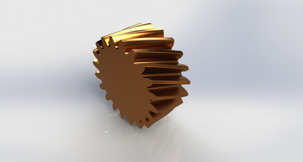Helical gear with GMT geometry