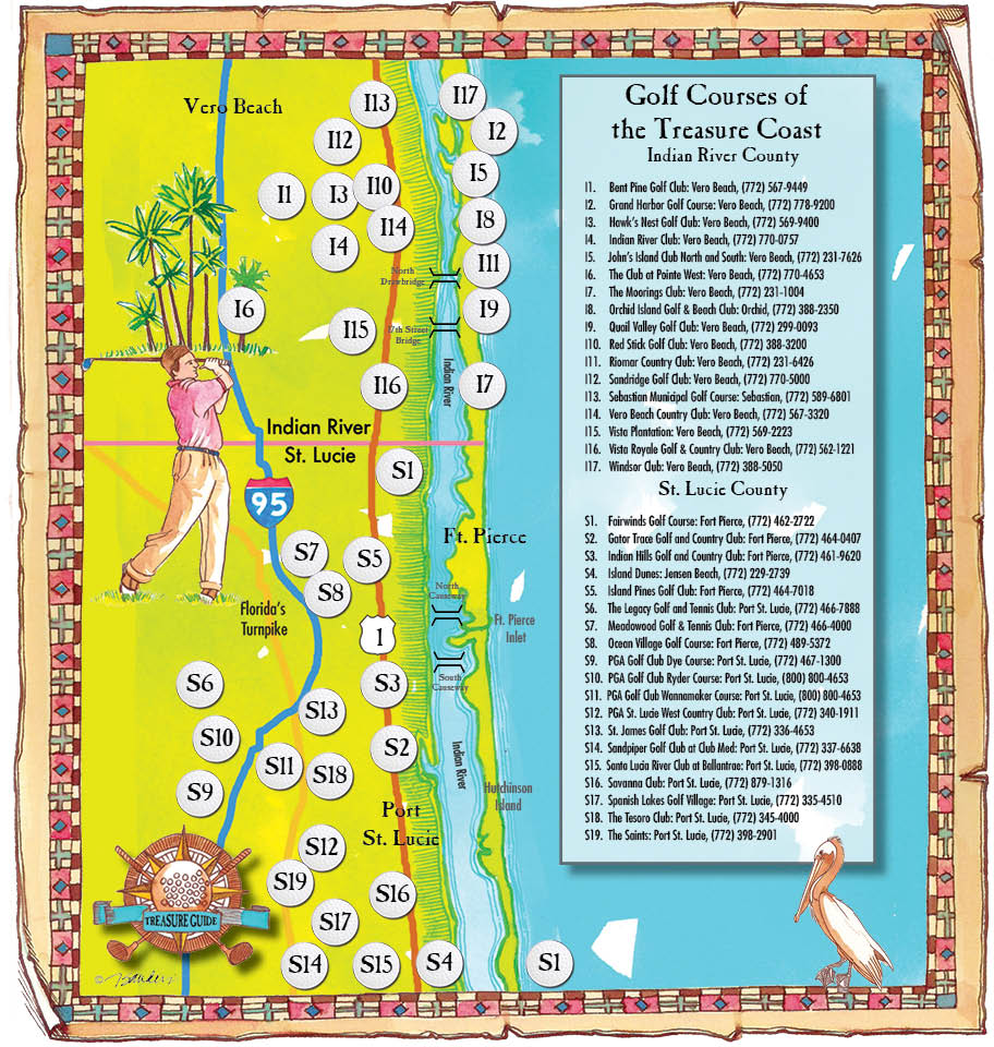 Golf map for Scripps media.