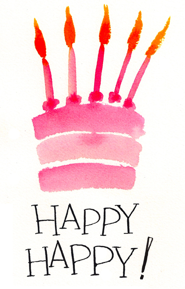 Happy happy birthday card.