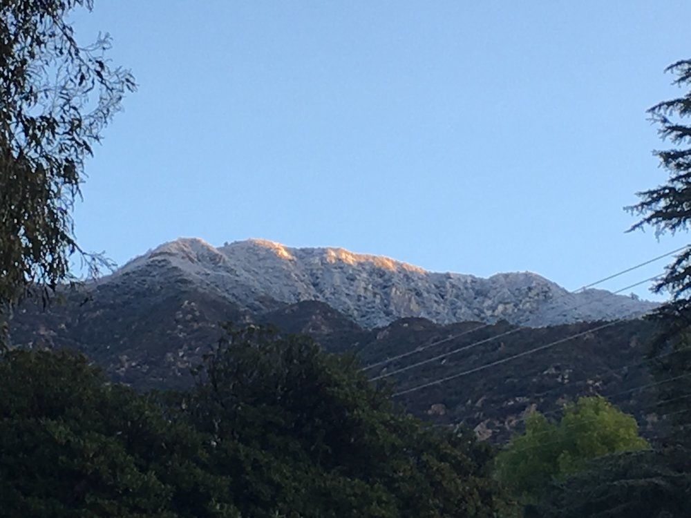 Mountains above Altadena, CA